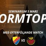 Seminariet Formtopp – mötet näringsliv och idrott!